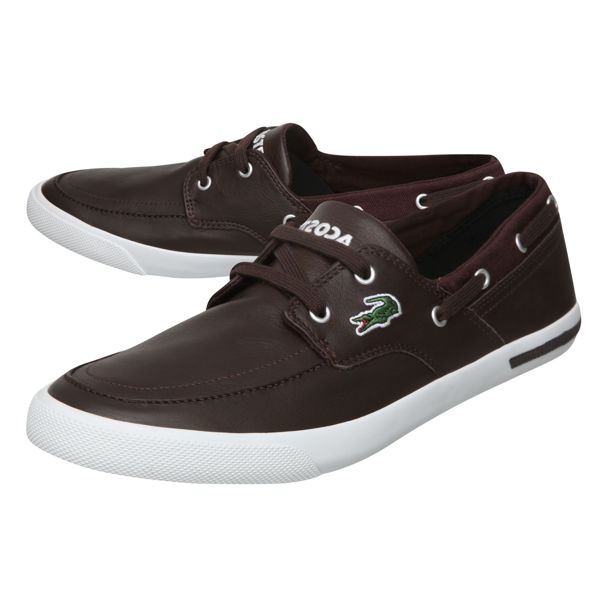 lacoste newton boat ci casual shoes in brown for lyst