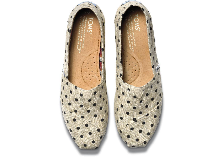 Toms Blue Polka Dot Shoes