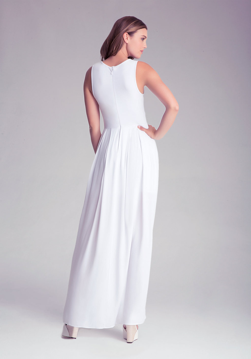 88c31de595a Bebe Embellished Slit Maxi Dress in White - Lyst