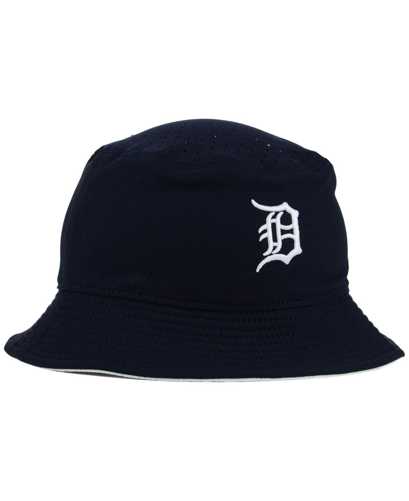 8cf58c5a183 Lyst - Nike Detroit Tigers Vapor Dri-Fit Bucket Hat in Blue for Men