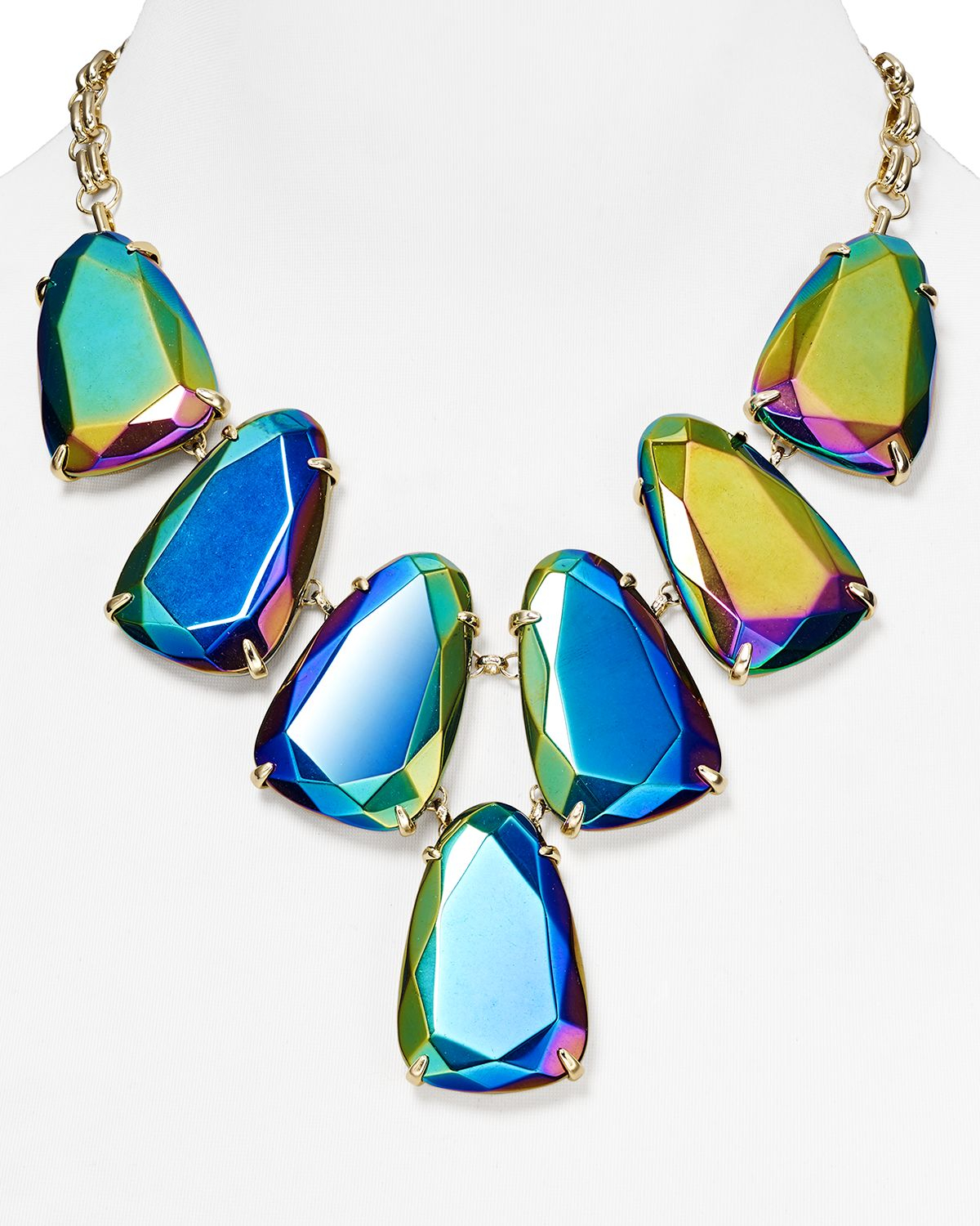 Lyst Kendra Scott Harlow Iridescent Necklace 18 in Blue