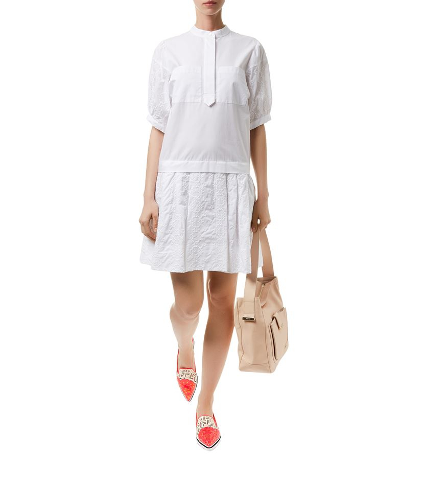 Embroidered cotton dress See By Chloé Clearance 100% Original Outlet Discounts Low Shipping Fee Cheap Online IC4BHEy