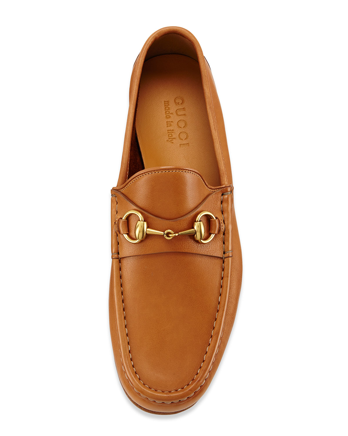 98e3358a04b Lyst - Gucci Horsebit Leather Loafers in Brown