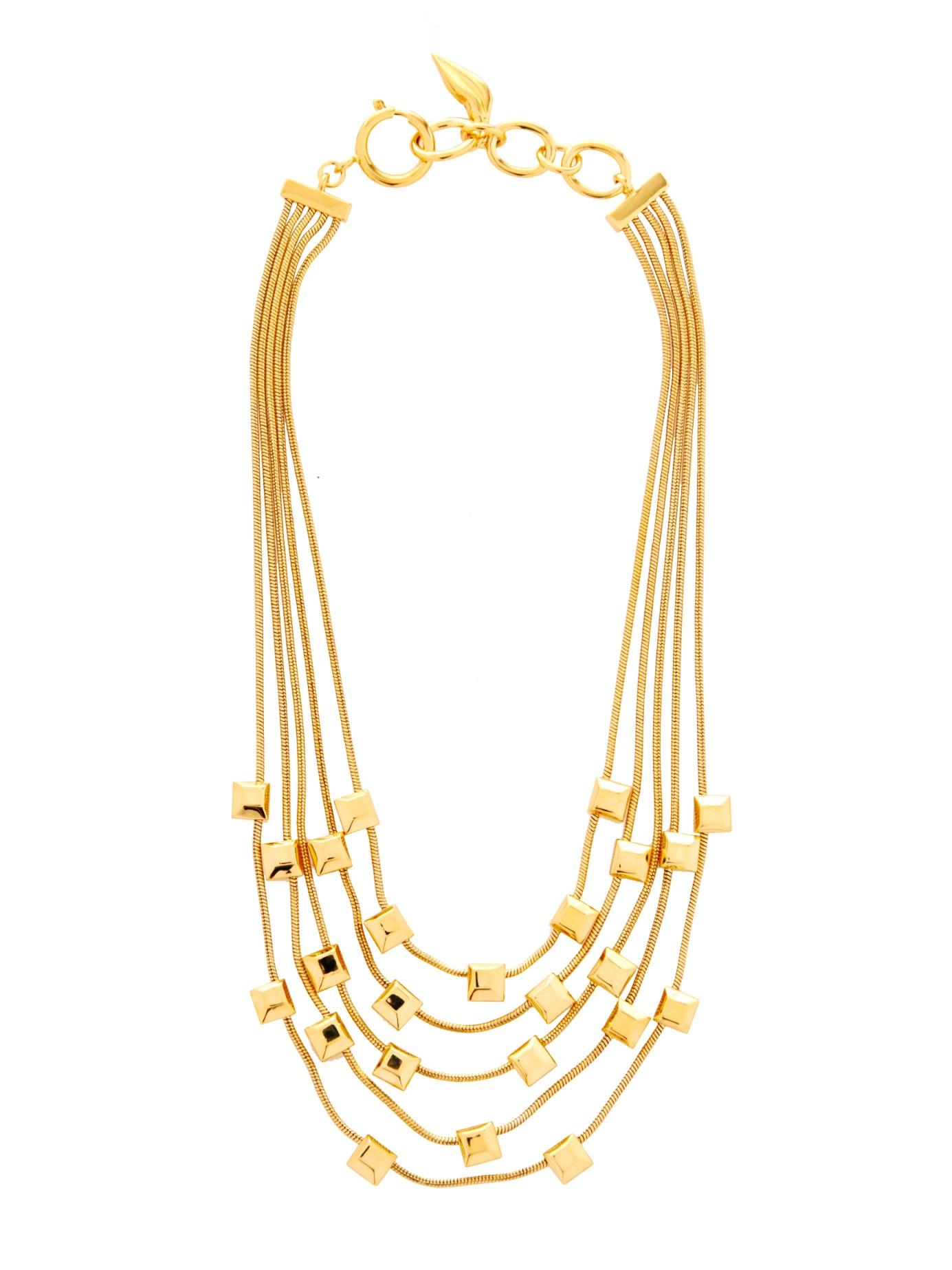 Lyst Diane Von Furstenberg Geometric Gold Plated