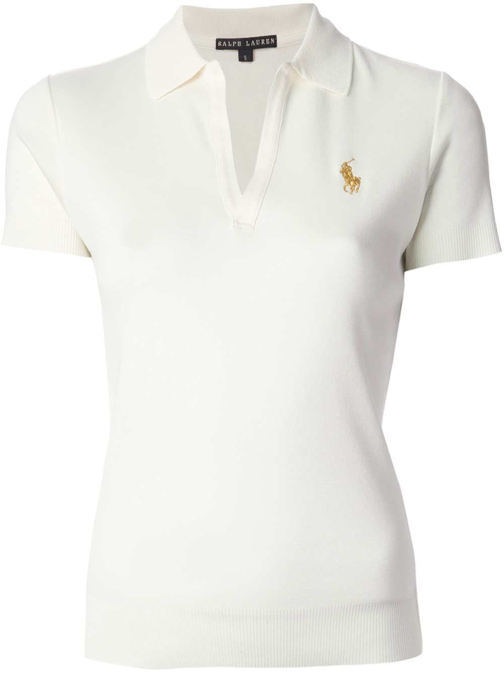 Lyst ralph lauren black label open placket polo shirt in for Ralph lauren black label polo shirt