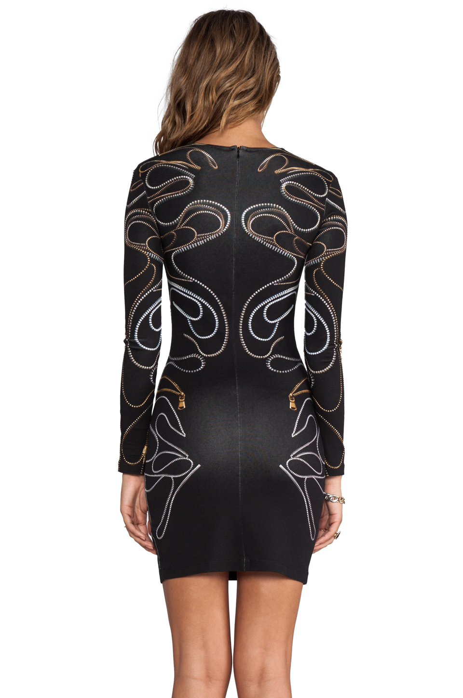 Mcq Long Sleeve Zipper Dress In Black In Black Lyst