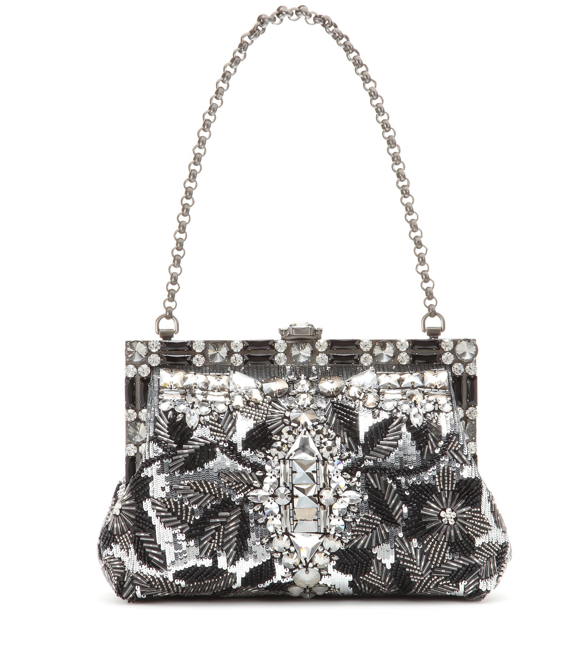 Lyst - Dolce   Gabbana Vanda Sequined-Embellished Bag in Metallic 5a7ded50cf0