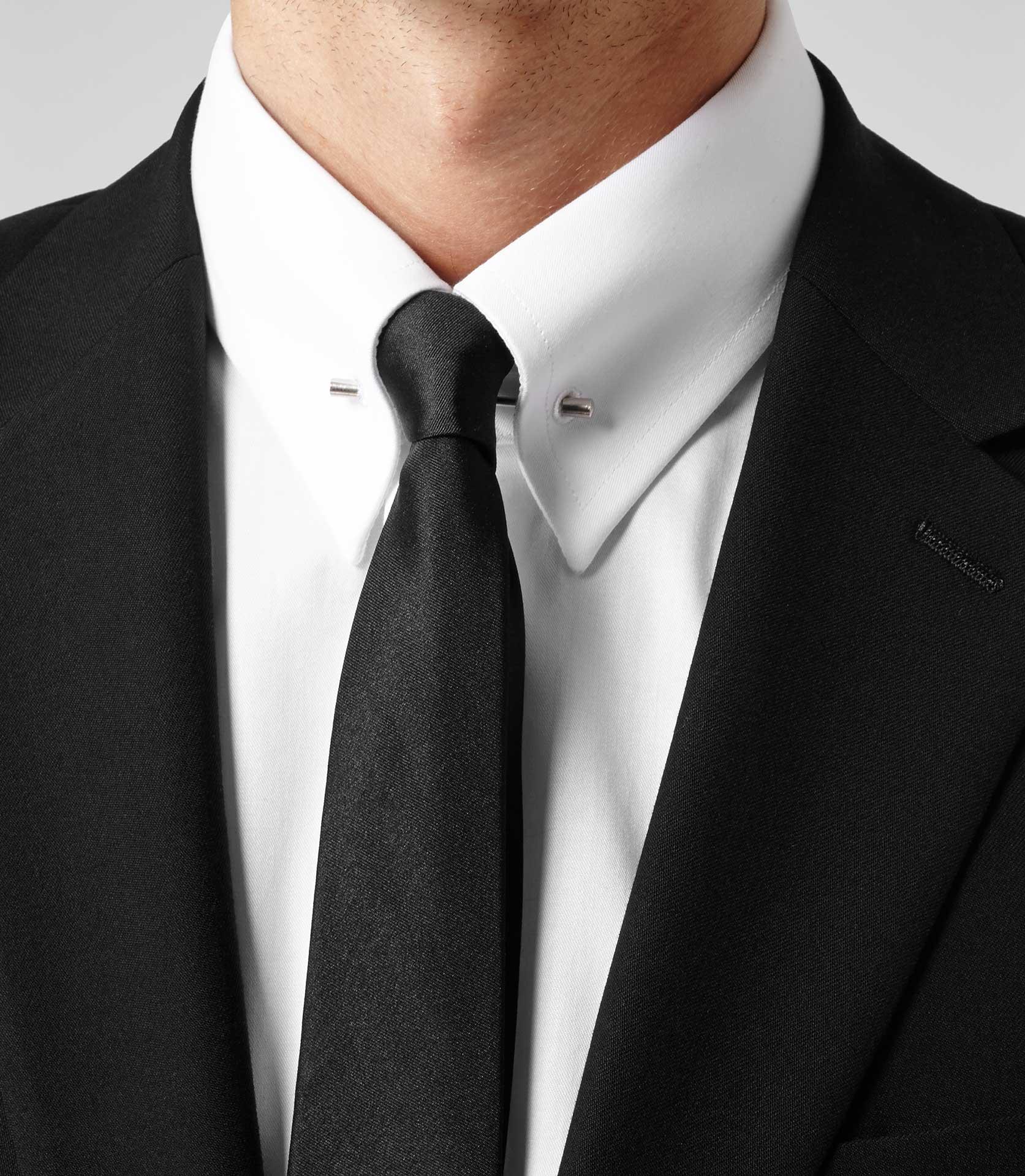 a6d95c6b981 Lyst - Reiss Belfort Collar Pin Shirt in White for Men