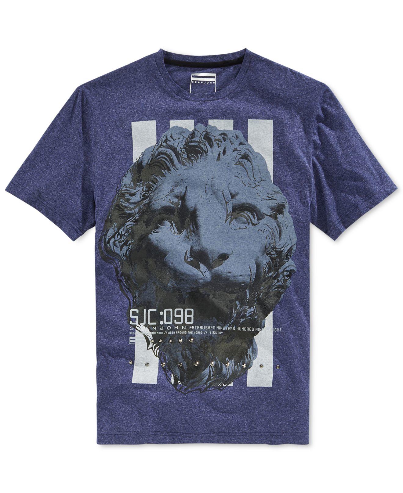 Lyst sean john big tall assembly line t shirt in blue for Sean john t shirts for mens