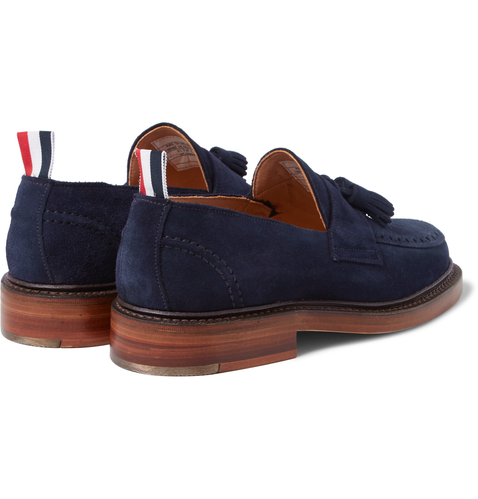 8c4451f9d94 Thom Browne Suede Tasselled Loafers in Blue for Men - Lyst