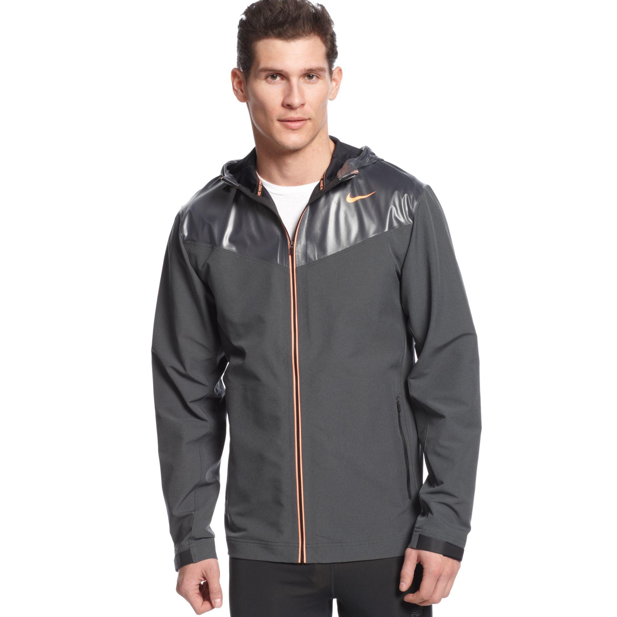 Nike Sweat Less Hooded Jacket In Gray For Men (DARK GREY