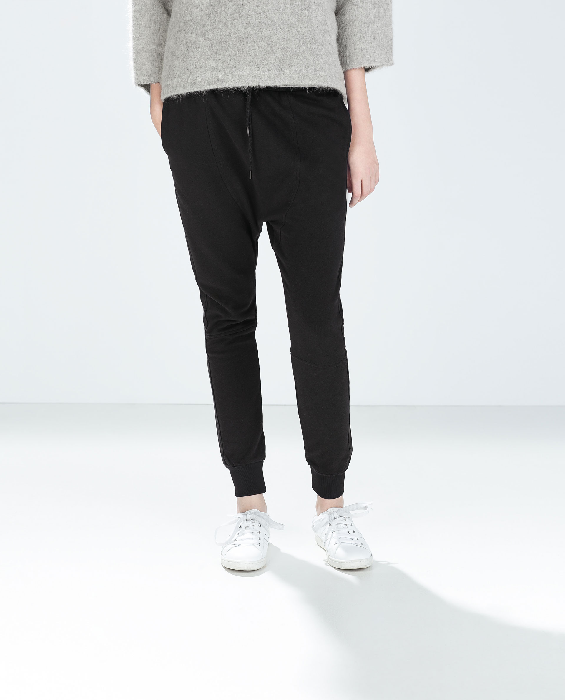 Excellent Zara Baggy Trousers In Black  Lyst
