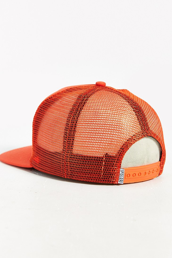 Lyst - Poler Camp Vibes Trucker Hat in Orange bad4a8e1d8f3
