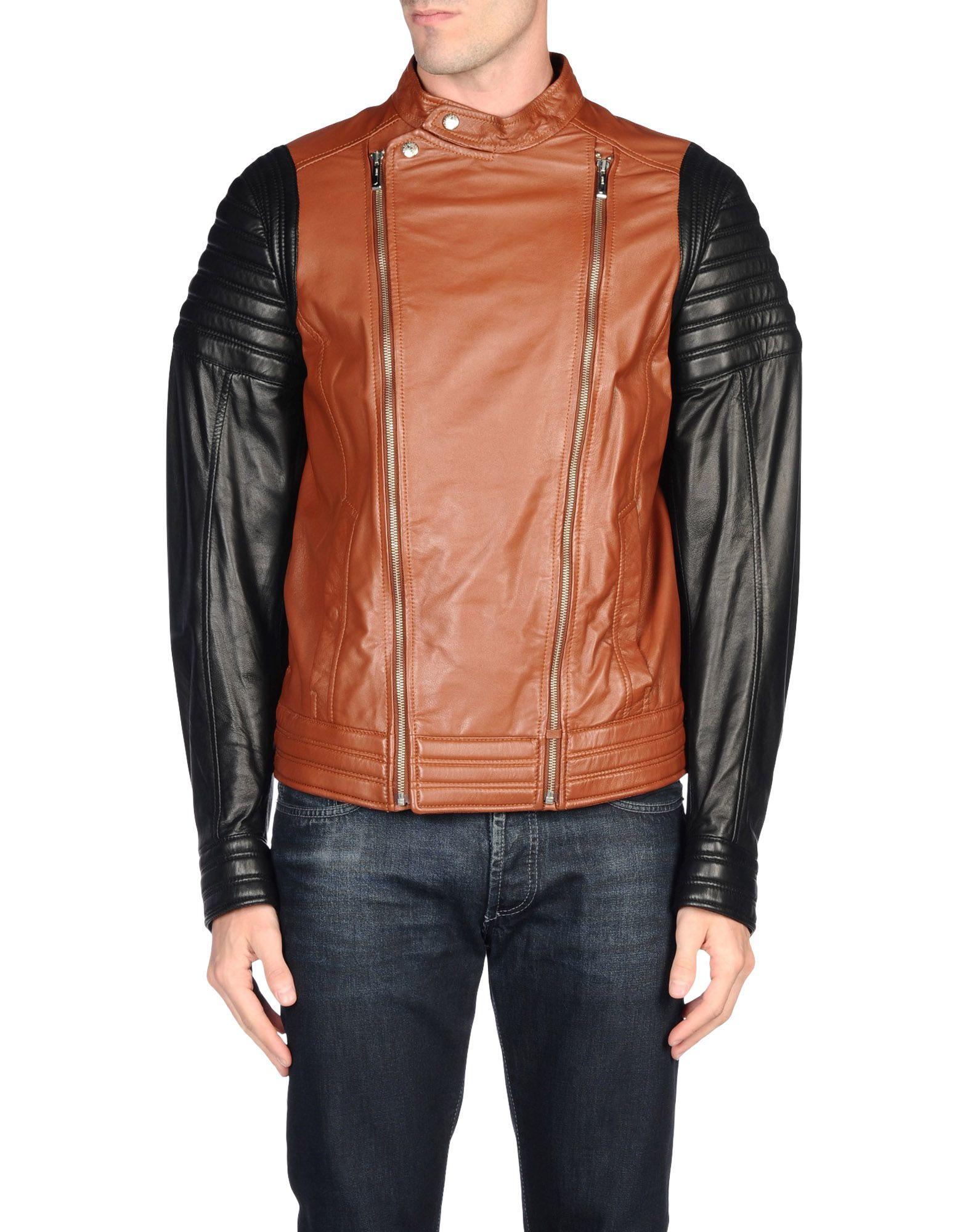 Just Cavalli Jacket In Brown For Men Lyst
