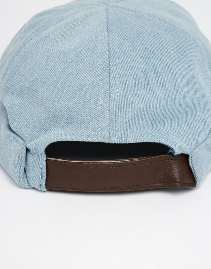 ASOS Docker Hat In Light Blue in Blue for Men - Lyst 4b1581a8818