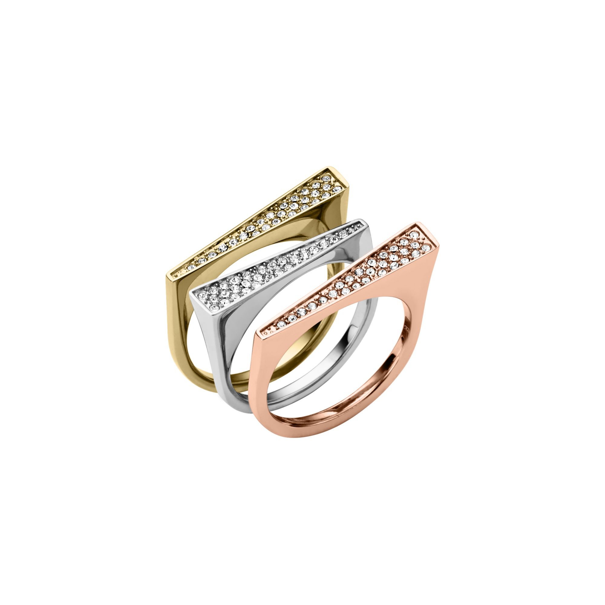 michael lyst normal stacked jewelry rings product gallery jet tri ring in pave kors pav black