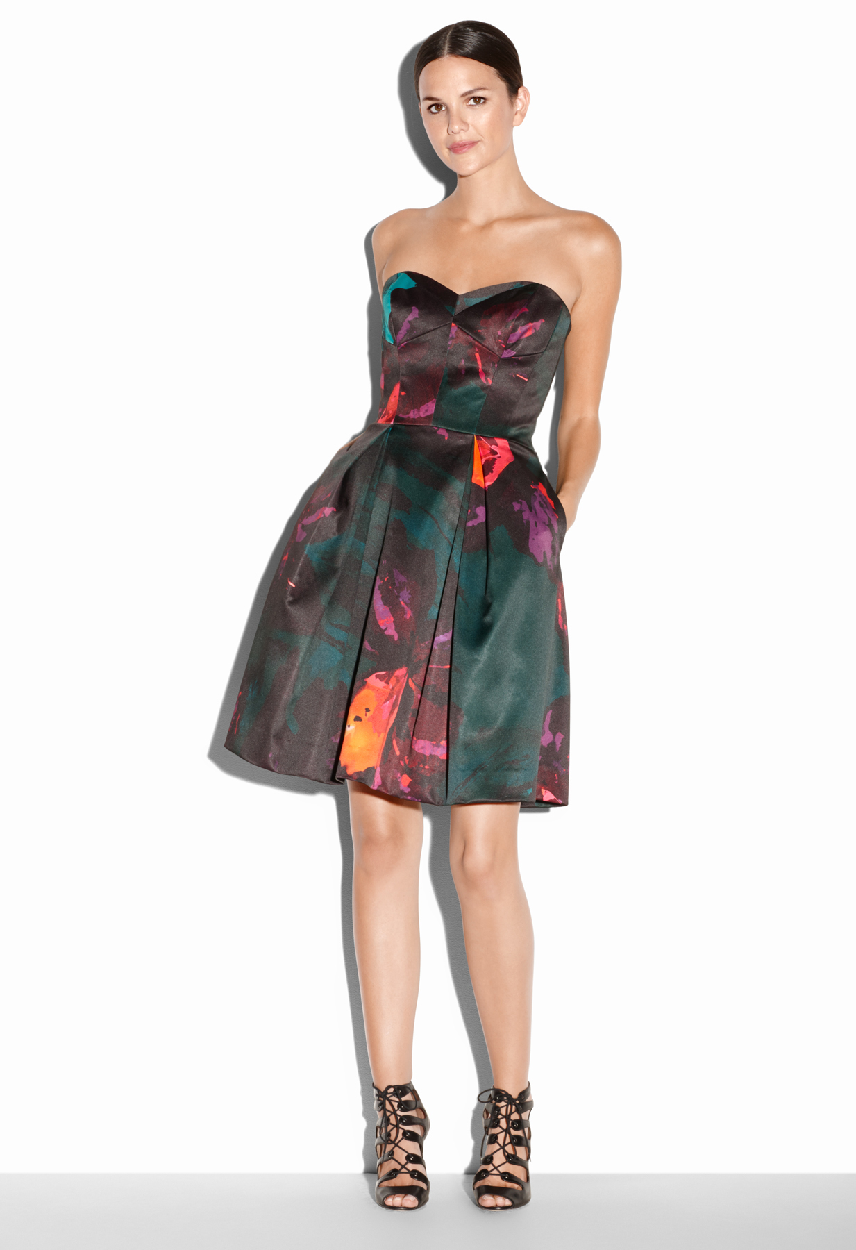 Lyst - Milly Twilight Floral Print Ava Cocktail Dress