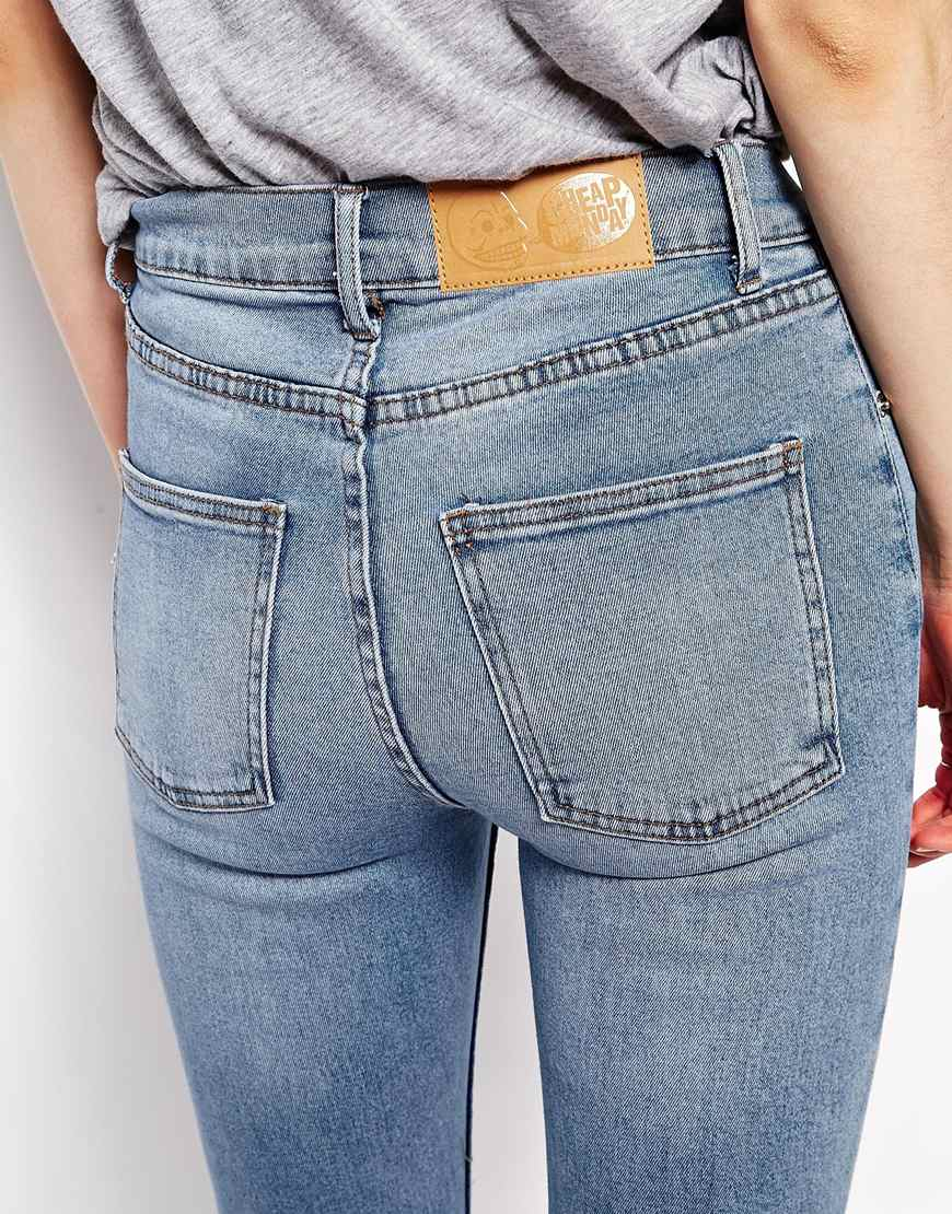 330931c33ee3 Cheap Monday Second Skin High Waist Skinny Jeans in Blue - Lyst