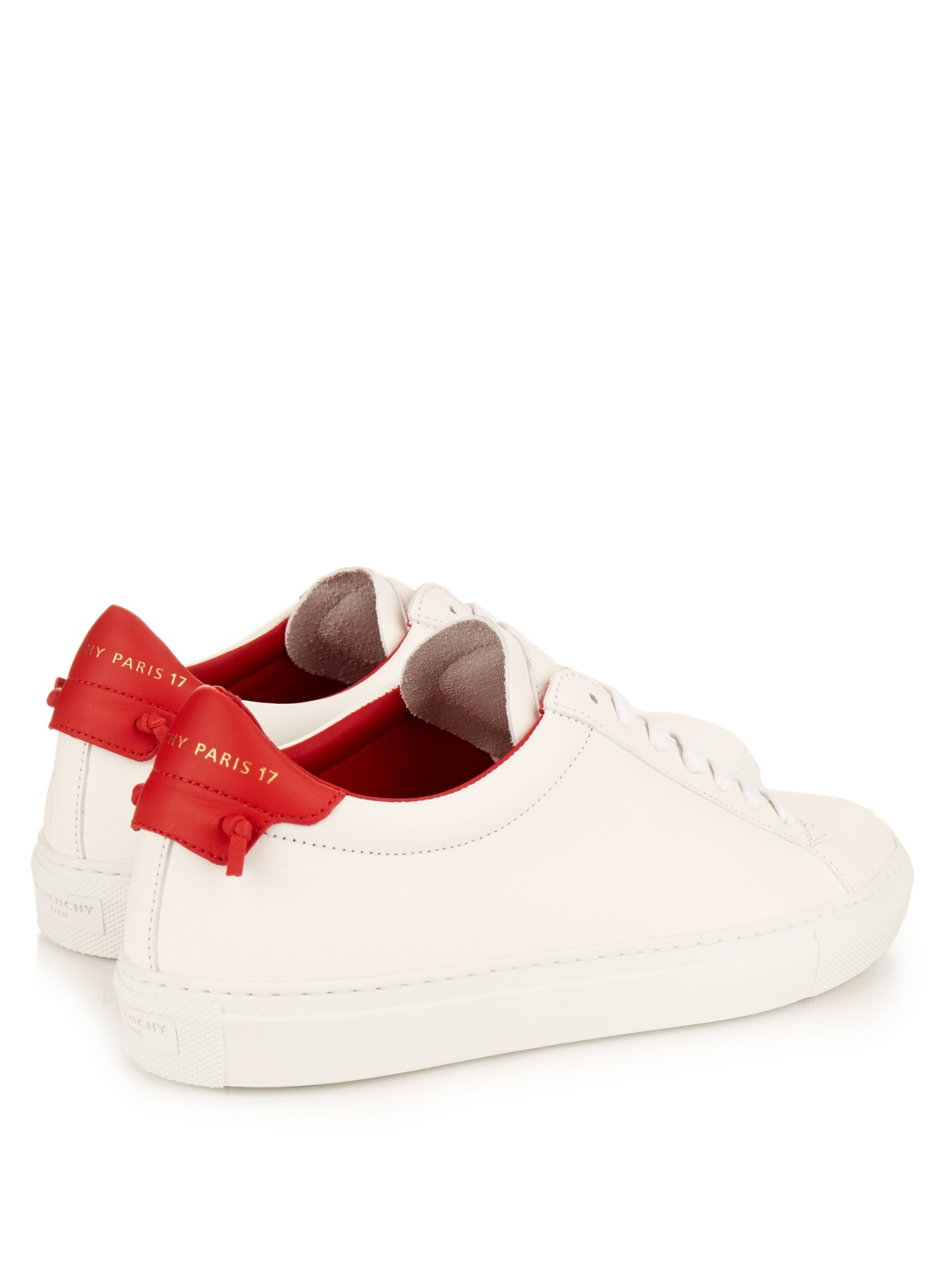 081a6eded71 Lyst - Givenchy Urban Street Low-top Leather Trainers in Red