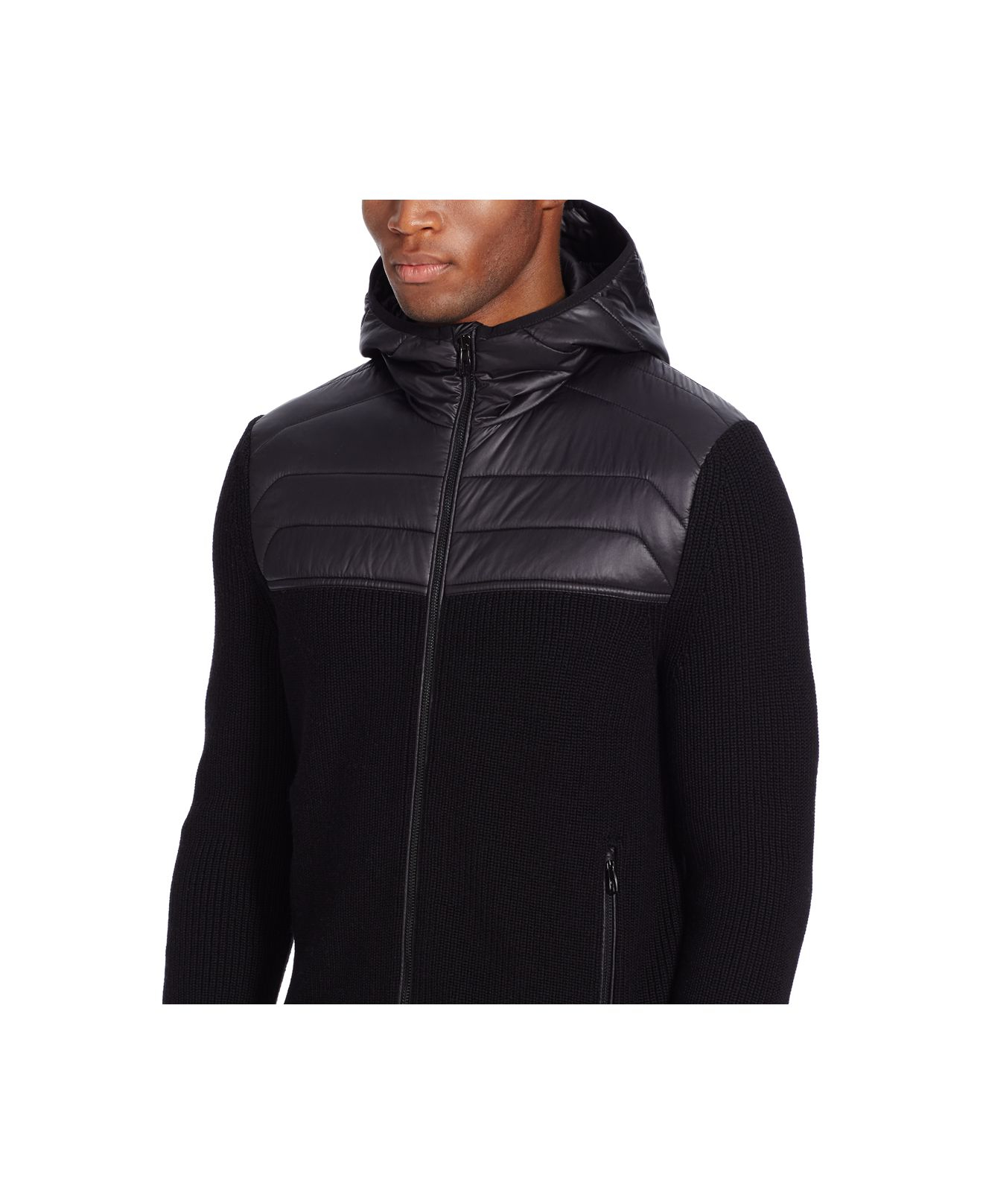 Polo ralph lauren Ribbed Merino Hooded Cardigan in Black for Men ...