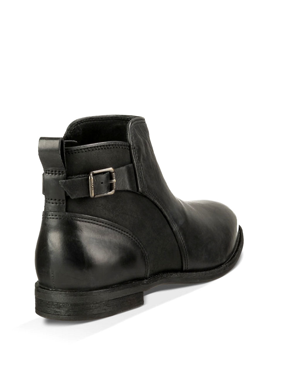 e0666825852fb ... cheap lyst ugg demi leather ankle boots in black 3e481 f67f2