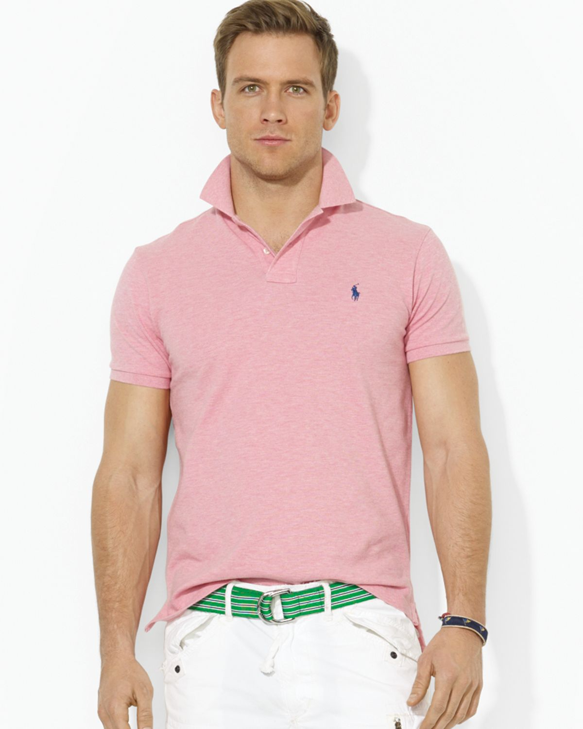 Lyst ralph lauren polo custom mesh polo shirt slim fit Man in polo shirt
