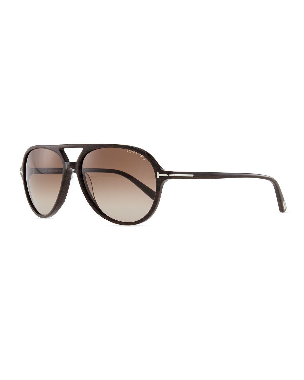 lyst tom ford mens jared acetate aviator sunglasses brown in brown for men. Black Bedroom Furniture Sets. Home Design Ideas