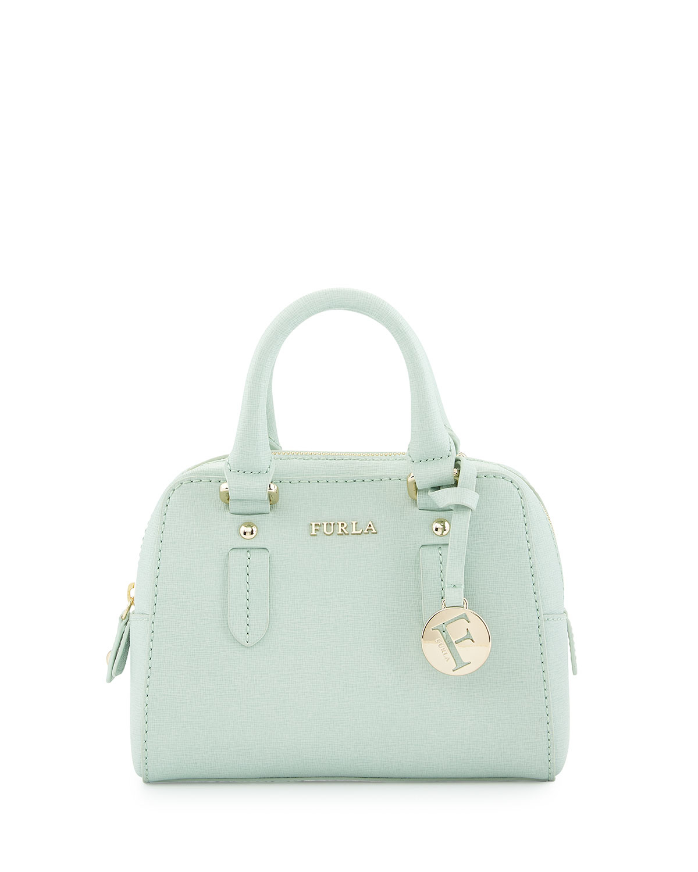 18e212eae626 Lyst - Furla Elena Small Leather Crossbody Bag in Green