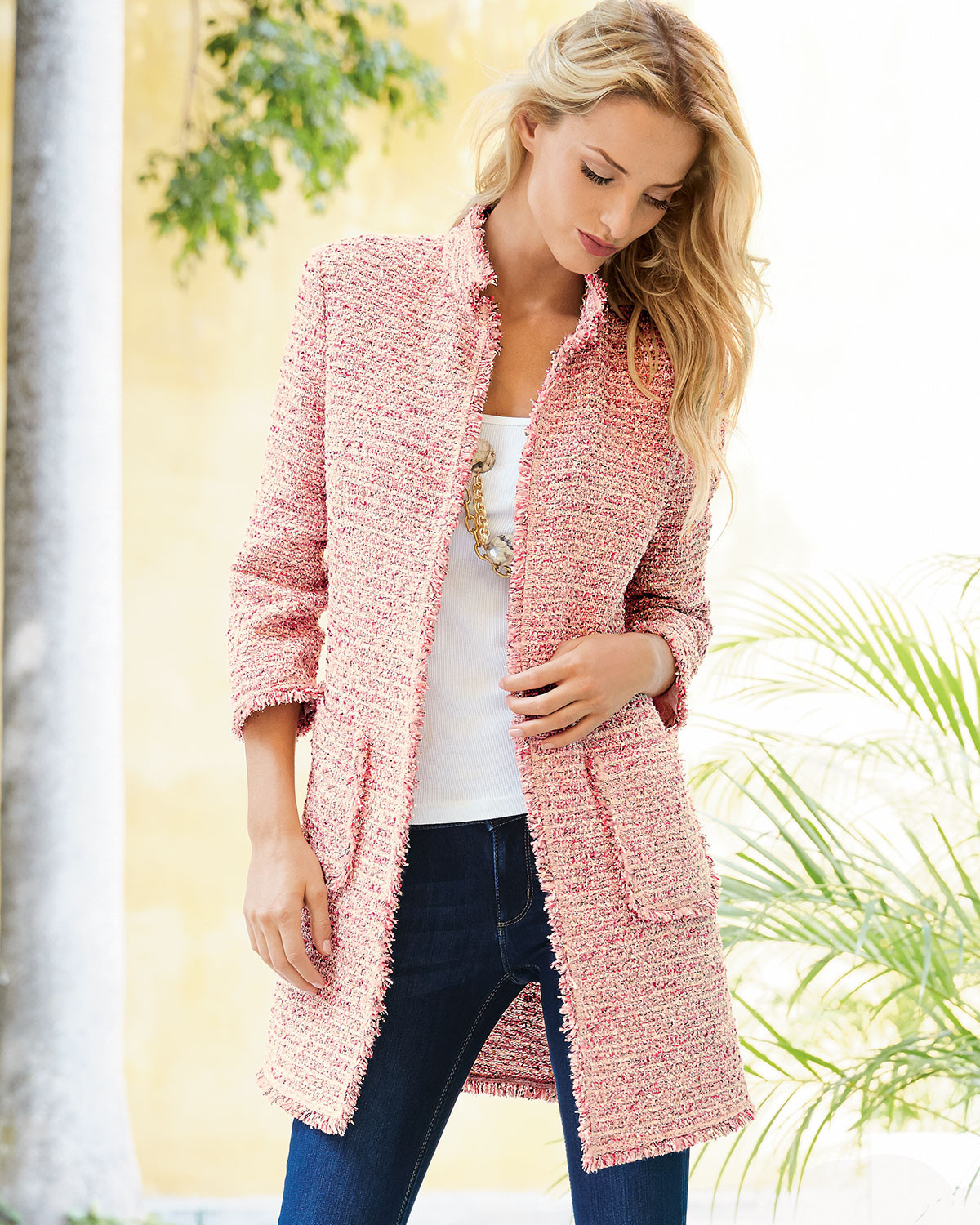 Neiman Marcus Pink Home Decor Ebth: Pink Boucle Jacket