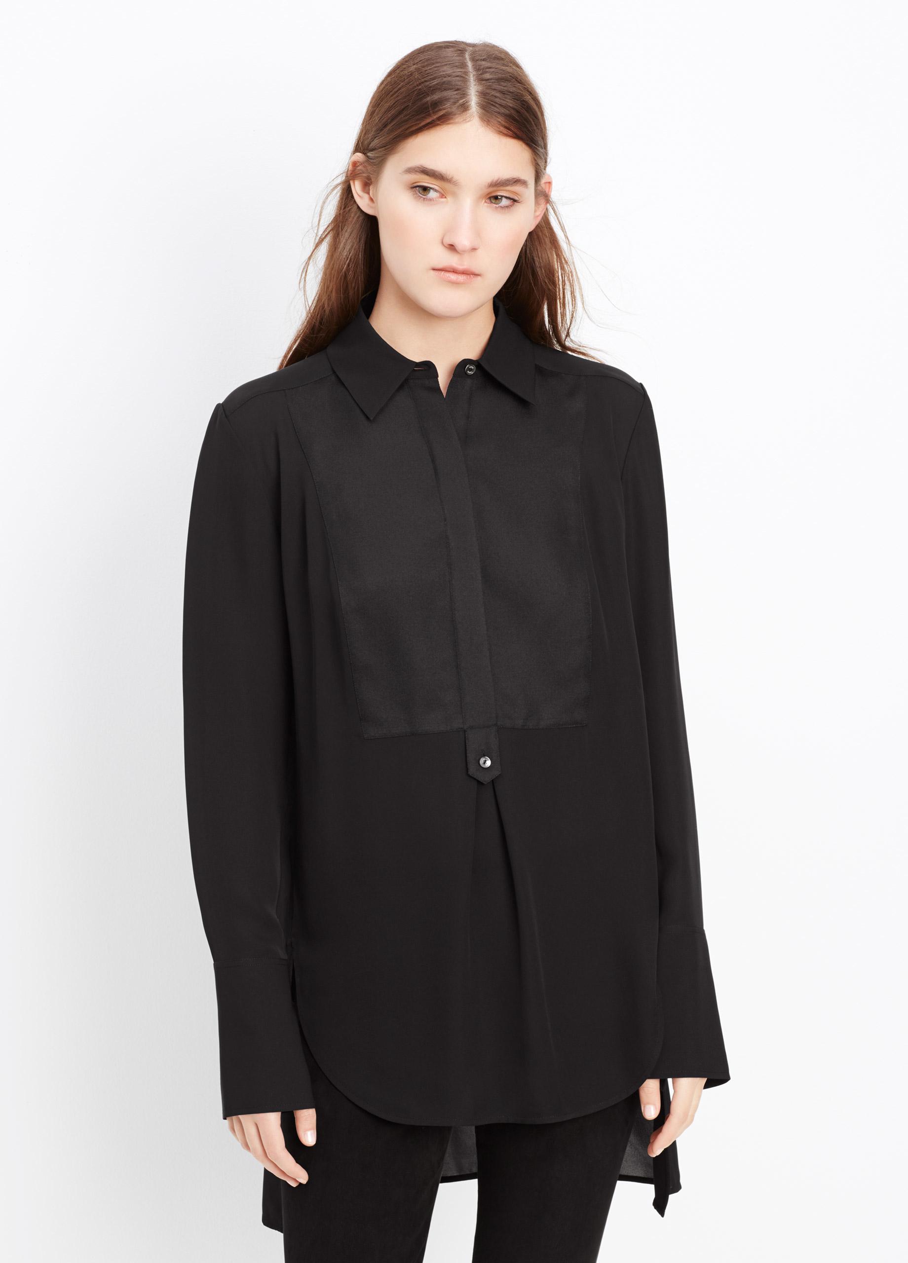 Women'S Tuxedo Blouse 107