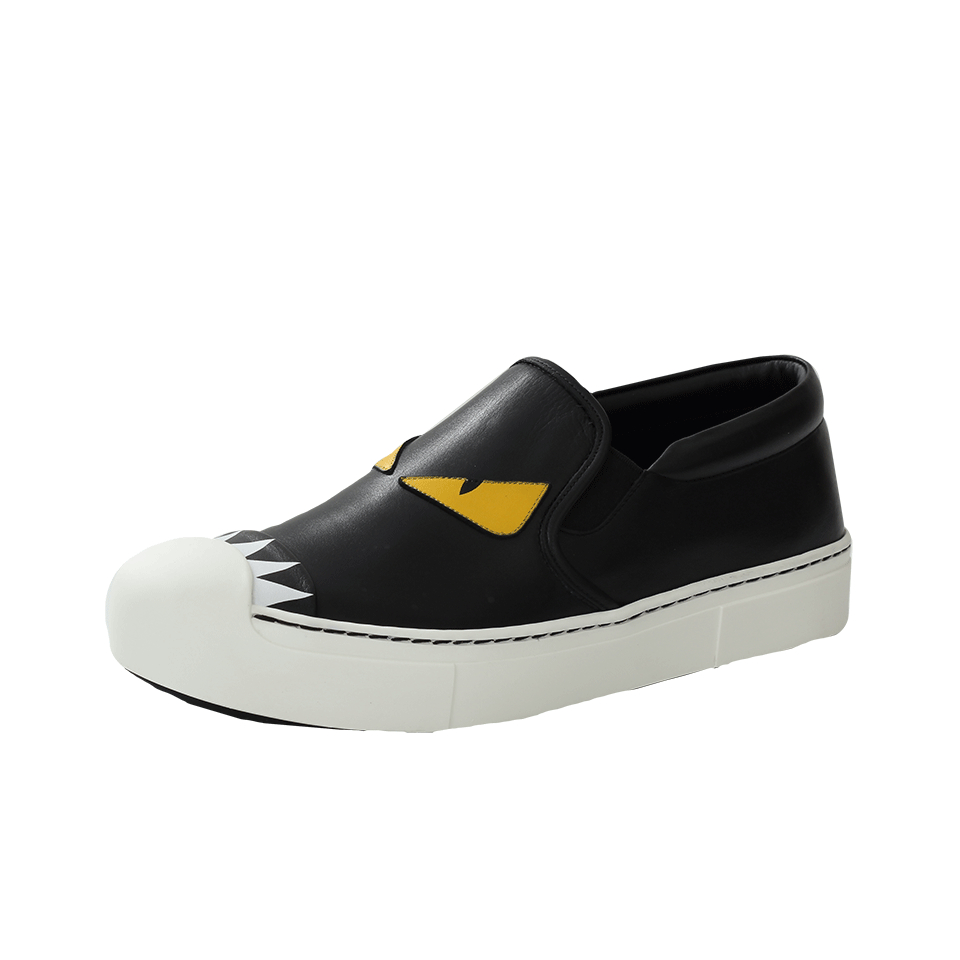 Fendi Black & Blue 'Bag Bugs' Slip-On Sneakers Y6Ygg