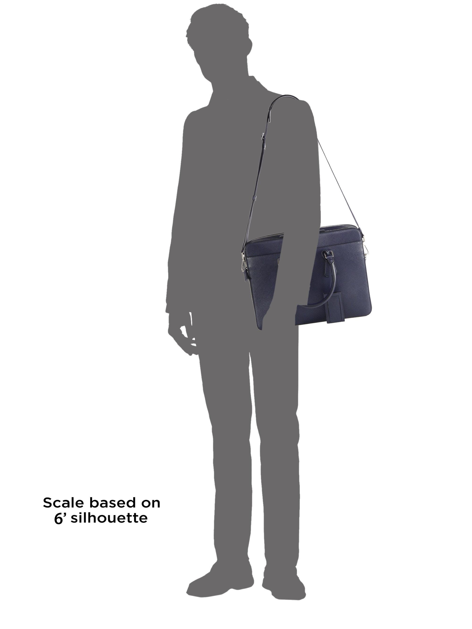 Prada Saffiano Travel Briefcase in Blue for Men (baltic blue) | Lyst - Prada briefcase baltic blue