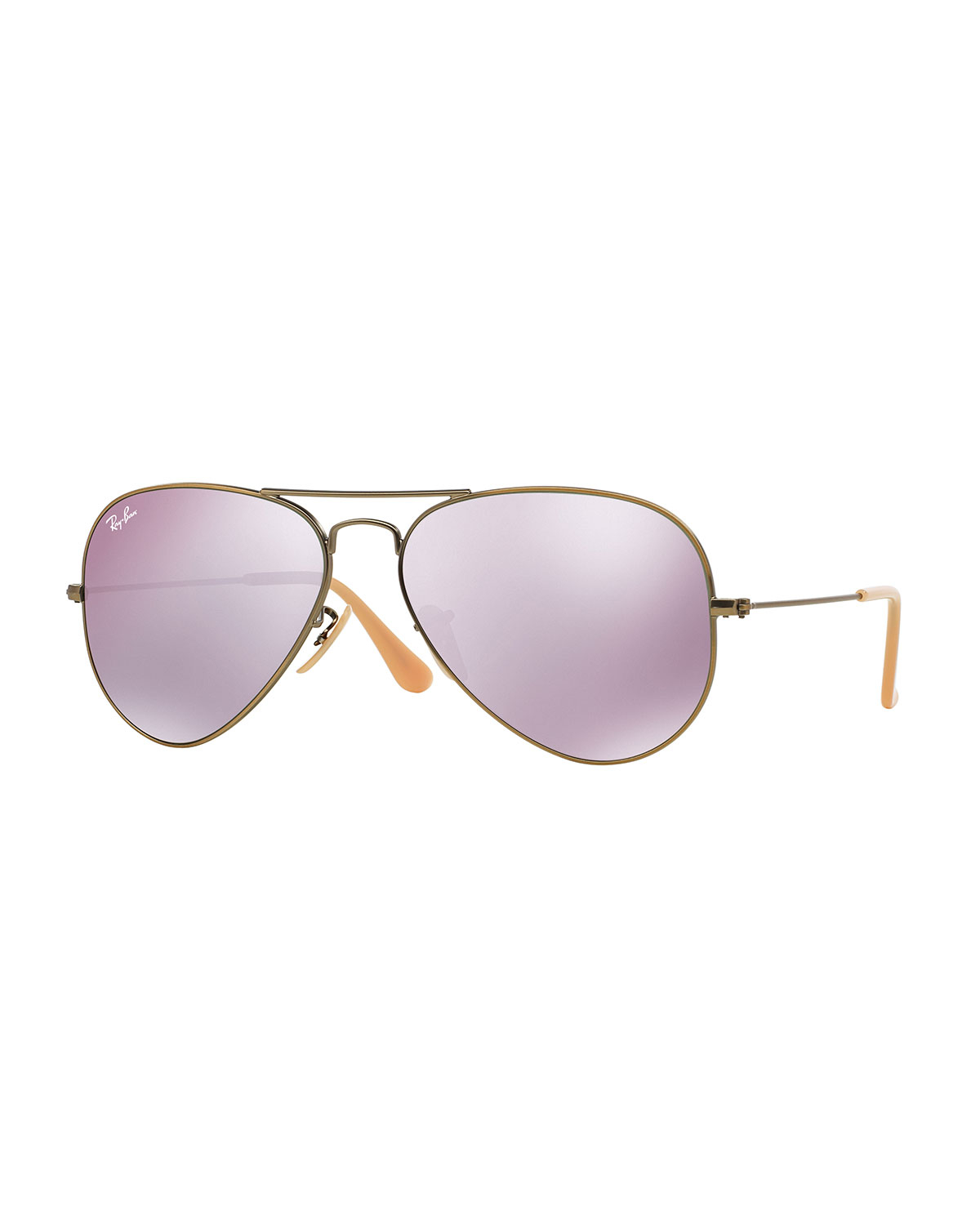 ray ban mirrored aviator sunglasses in purple for men lyst. Black Bedroom Furniture Sets. Home Design Ideas