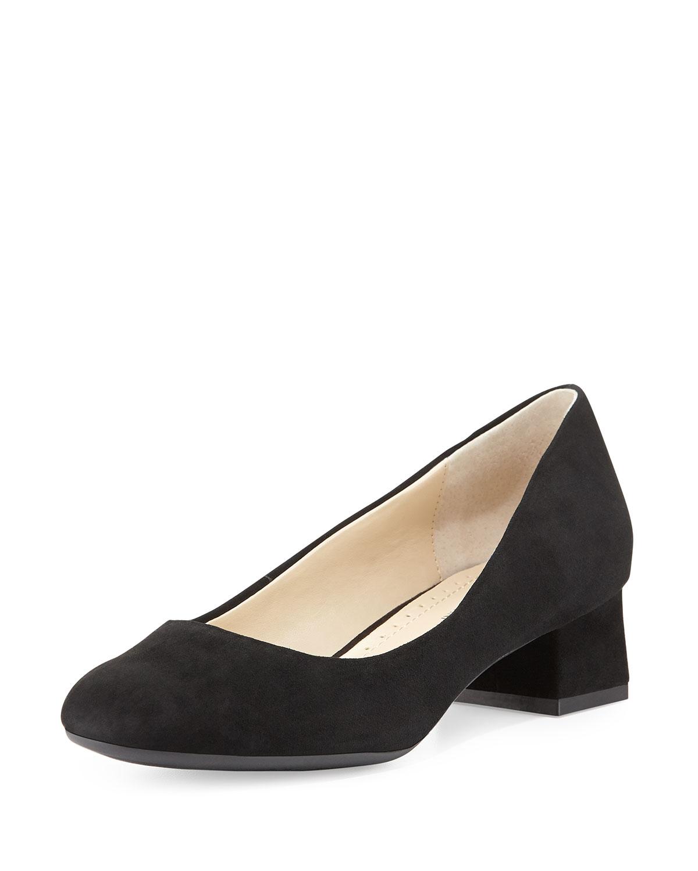 74ca5b70d56 Lyst - Adrienne Vittadini Gisella Suede Block-Heel Pump in Black