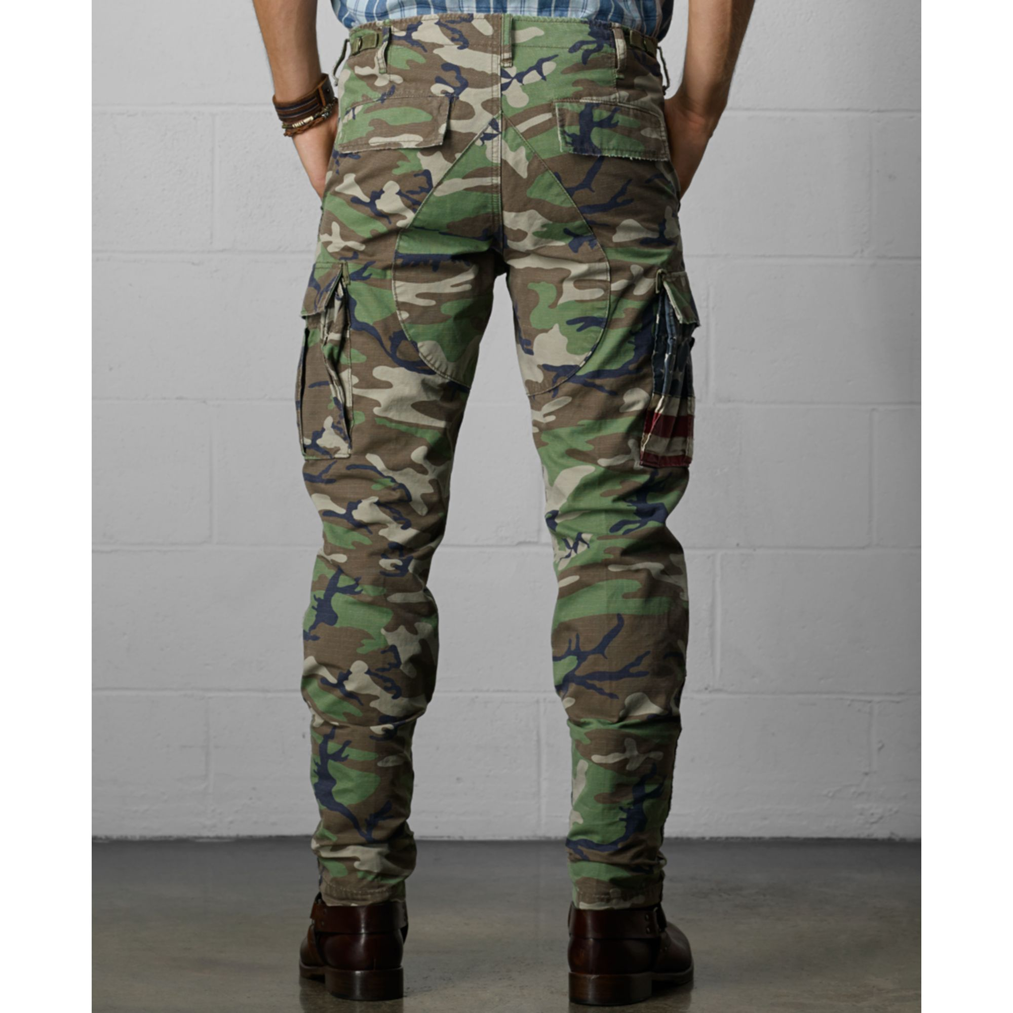 Denim & supply ralph lauren Knox Camo Cargo Pants in Green for Men ...