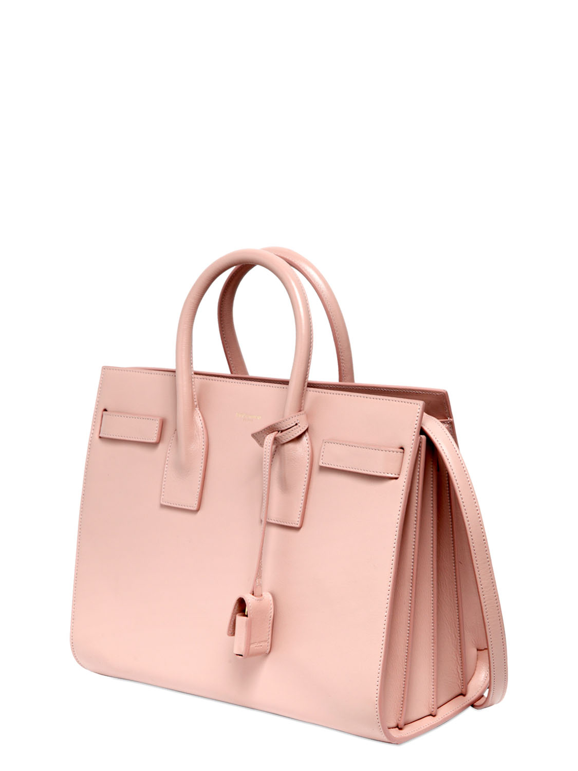 557c72cfcdc Saint Laurent Small Sac De Jour Leather Top Handle Bag in Pink - Lyst