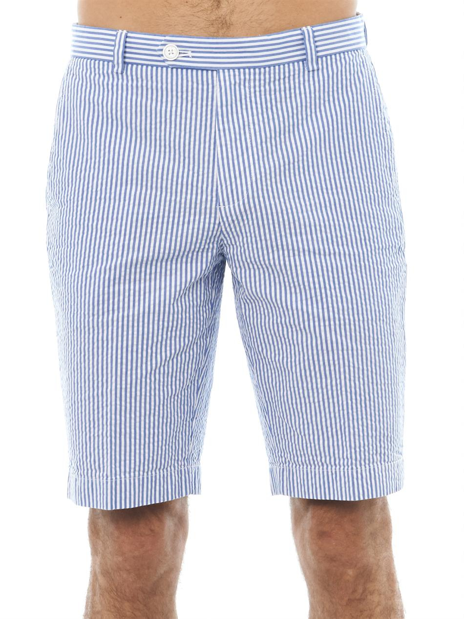 Mens Seersucker Shorts