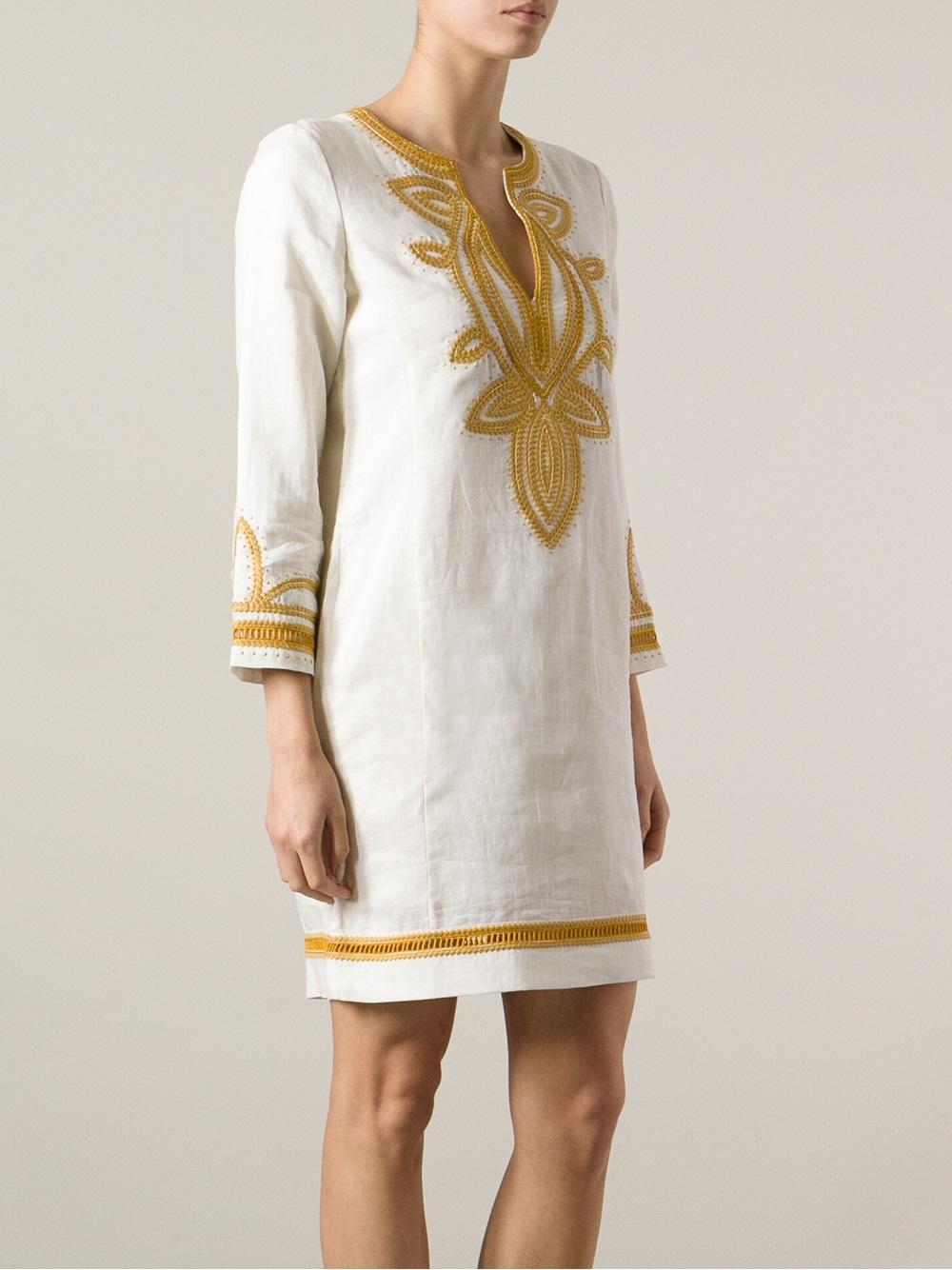 a1c0319cfa1d Lyst - Tory Burch Odelia Tunic Dress in White
