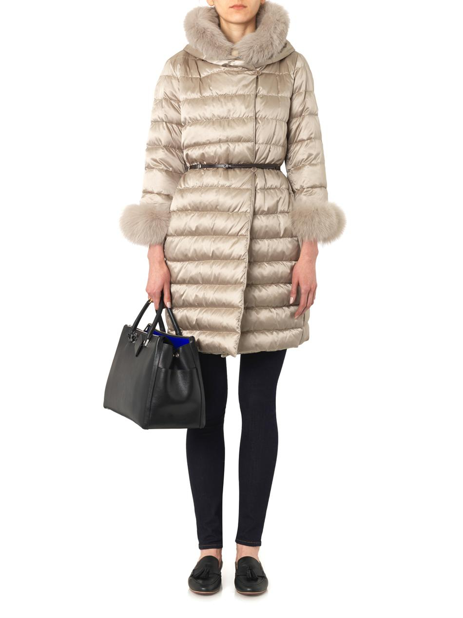 Lyst S Max Mara Novef Down Quilted Coat In Natural