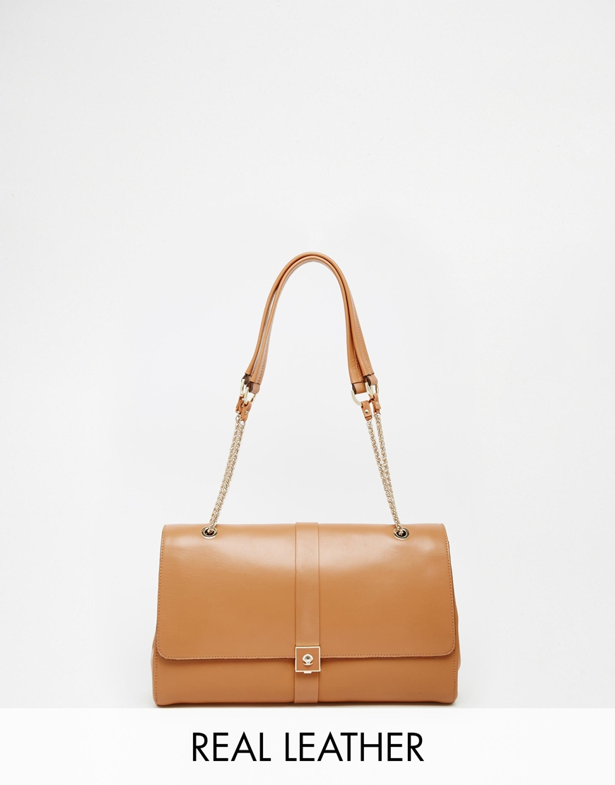 Modalu Leather Flap Over Shoulder Bag in Brown | Lyst