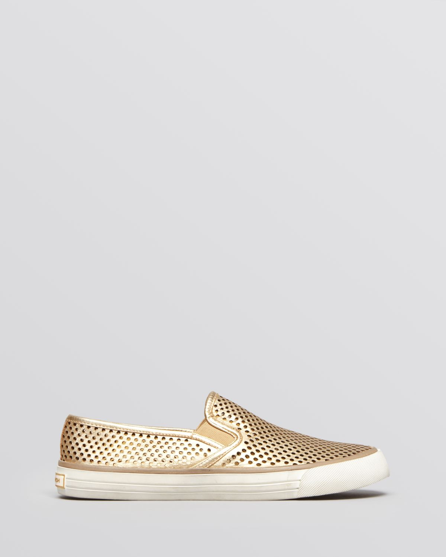 03890e2c8e0 Lyst - Tory Burch Flat Slip On Sneakers Miles in Metallic