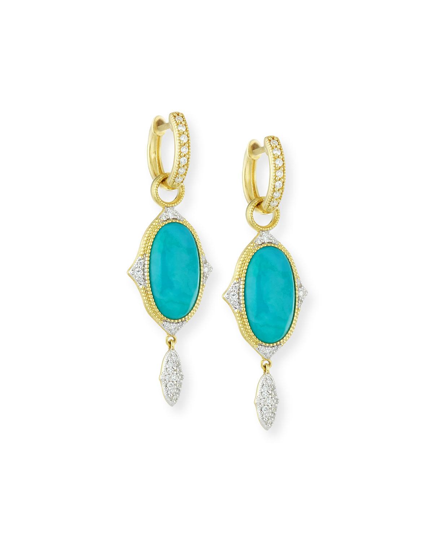 jude frances 18k large moroccan turquoise diamond. Black Bedroom Furniture Sets. Home Design Ideas