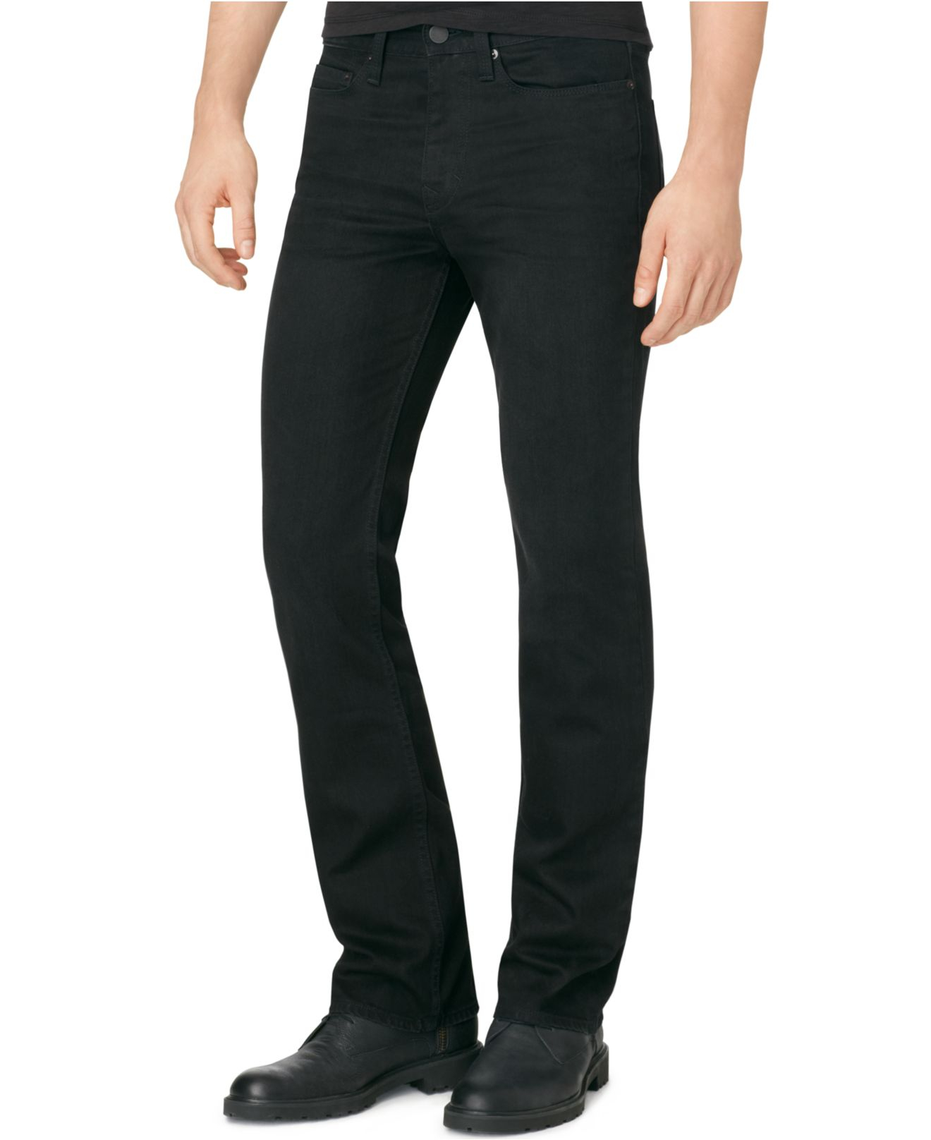 black bootcut jeans men - Jean Yu Beauty