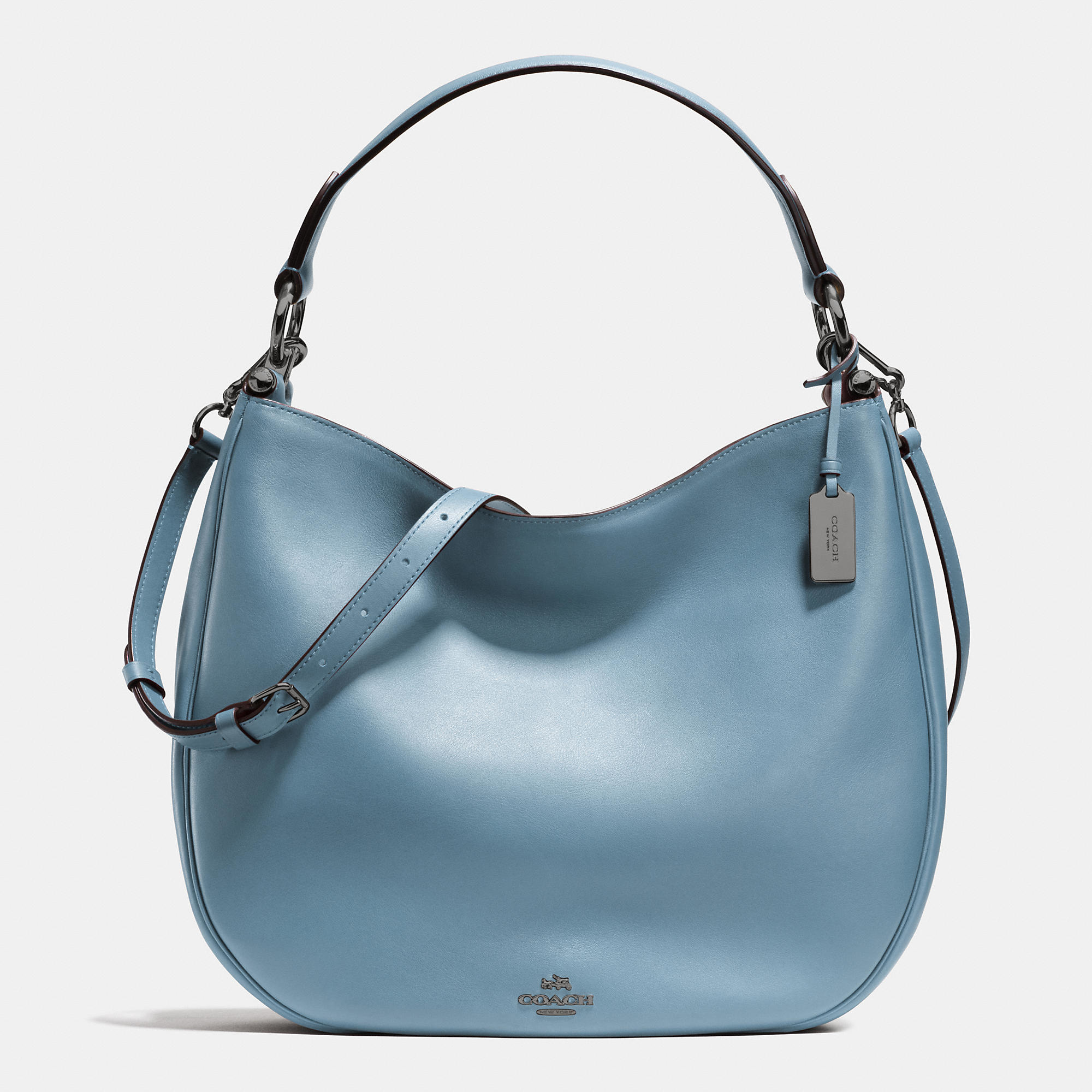 84f438aaf5c4 ... australia lyst coach nomad hobo in glovetanned leather in blue cc9c5  f021c