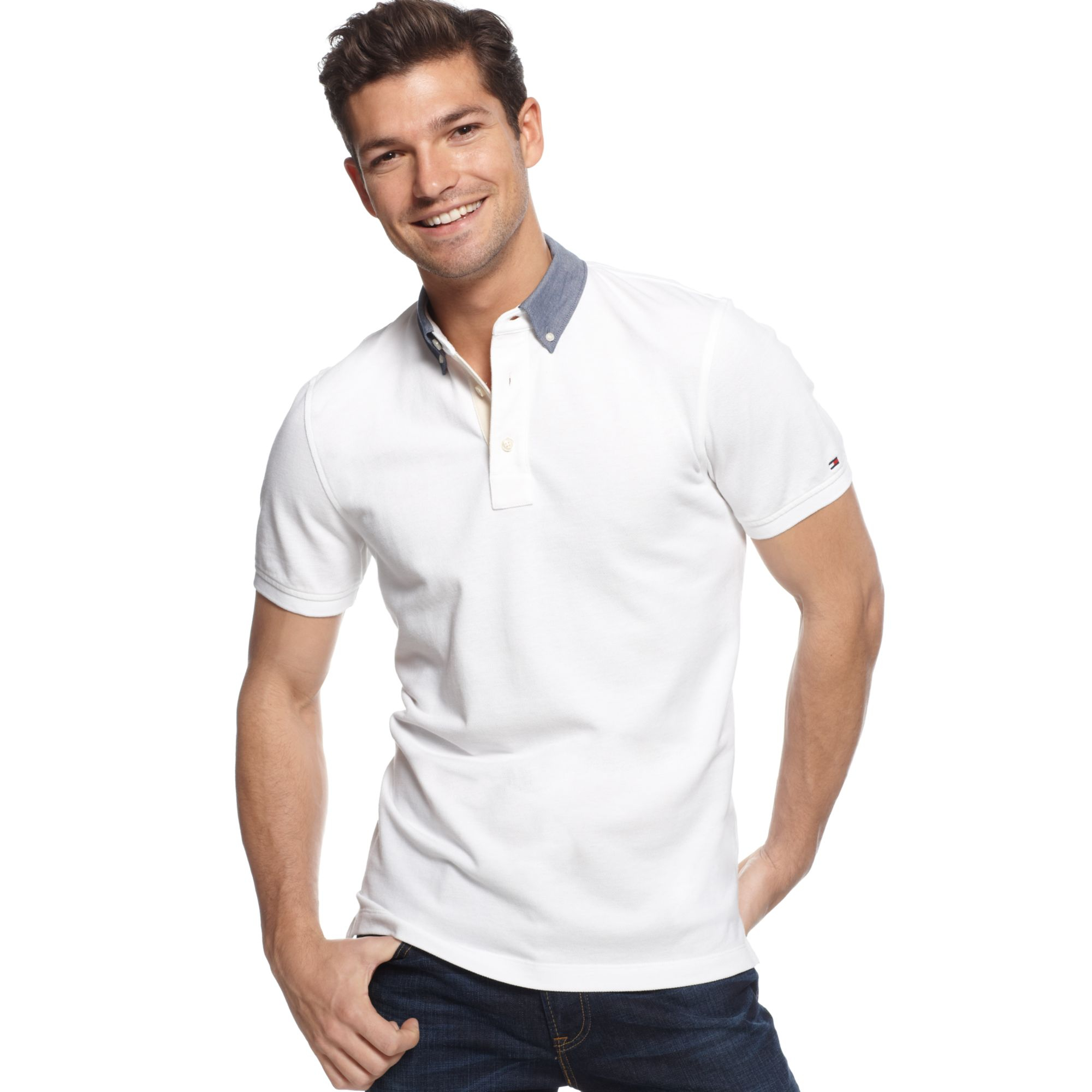 4f4e35c69a19b Tag Tommy Hilfiger Polo Shirt White — waldon.protese-de-silicone.info