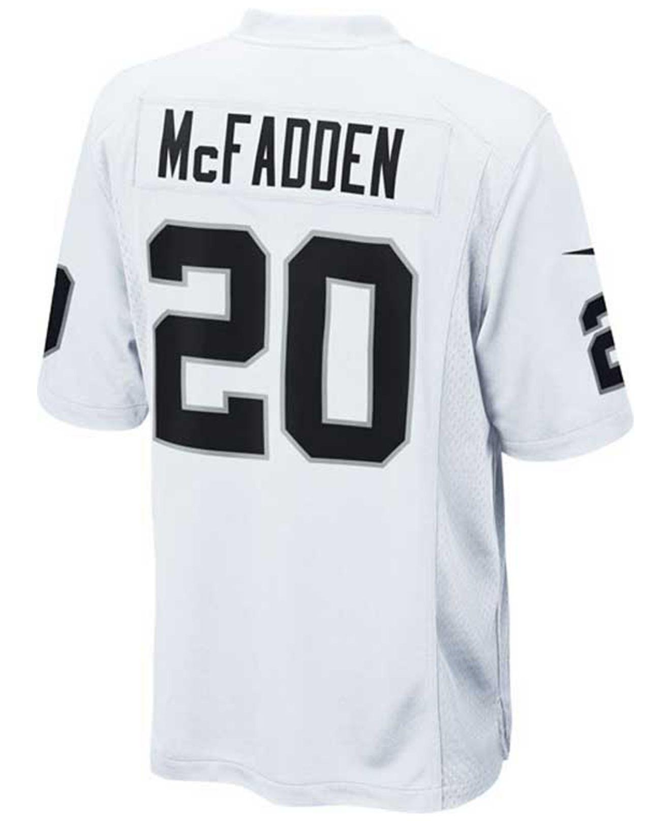 661cfd1ad ... 20 darren mcfadden limited black impact nfl jersey c6a34 4d5fe  store  lyst nike kids darren mcfadden oakland raiders jersey in white 3e563 5e300