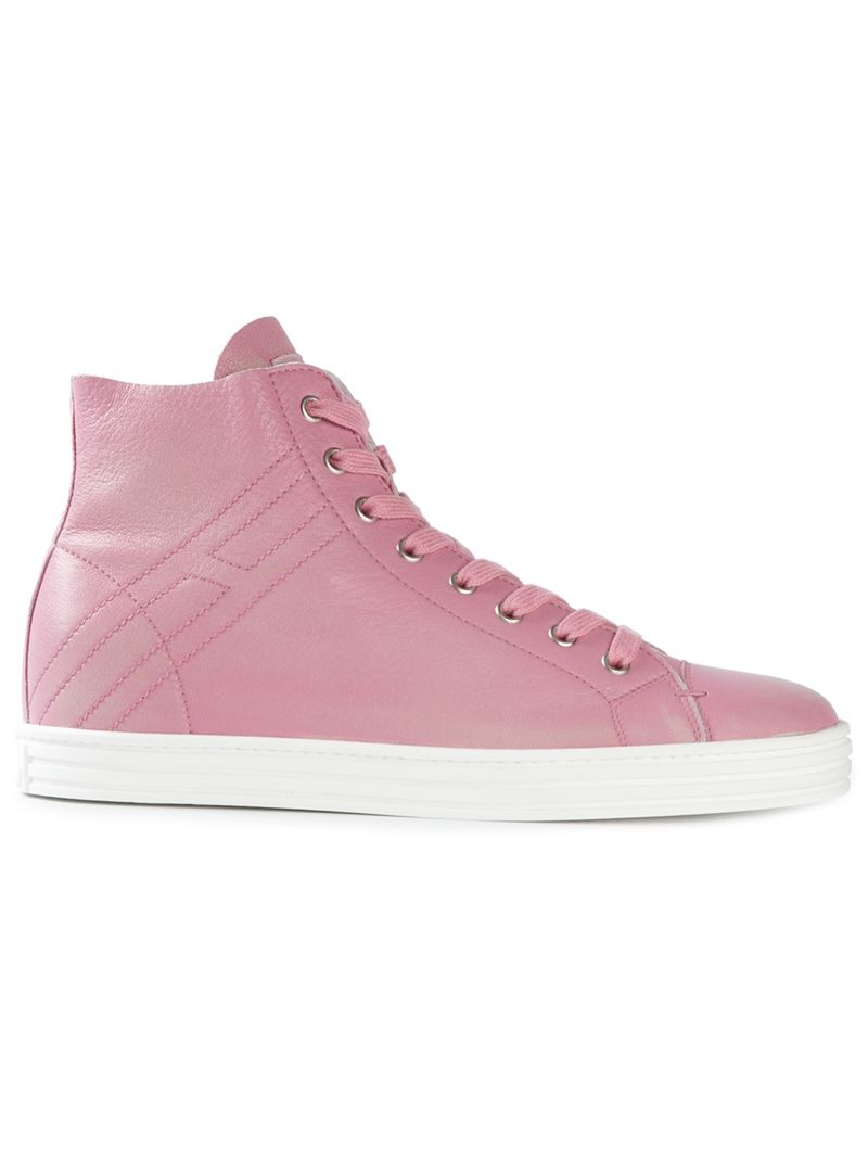 lace-up hi-top sneakers - Pink & Purple Hogan 9GiWOOS