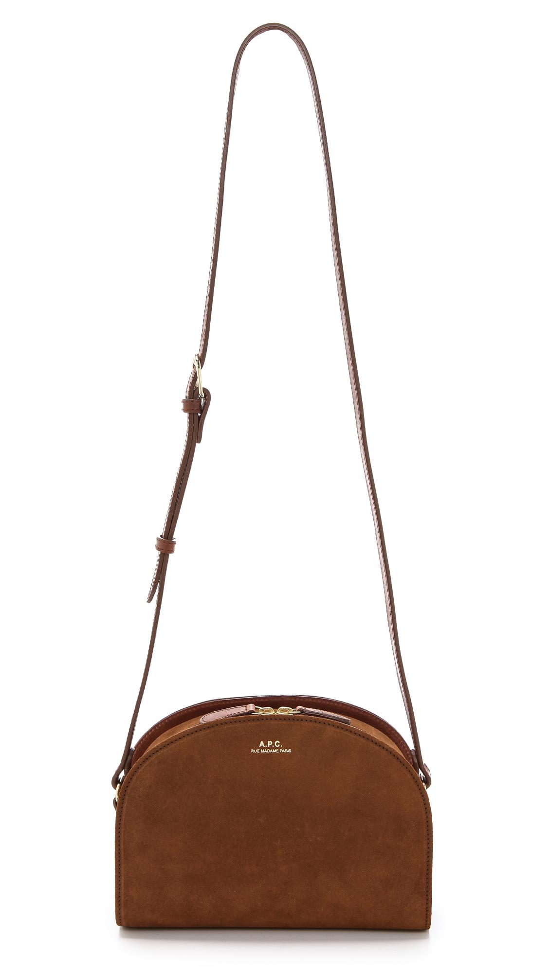a p c half moon bag in brown maroon lyst. Black Bedroom Furniture Sets. Home Design Ideas