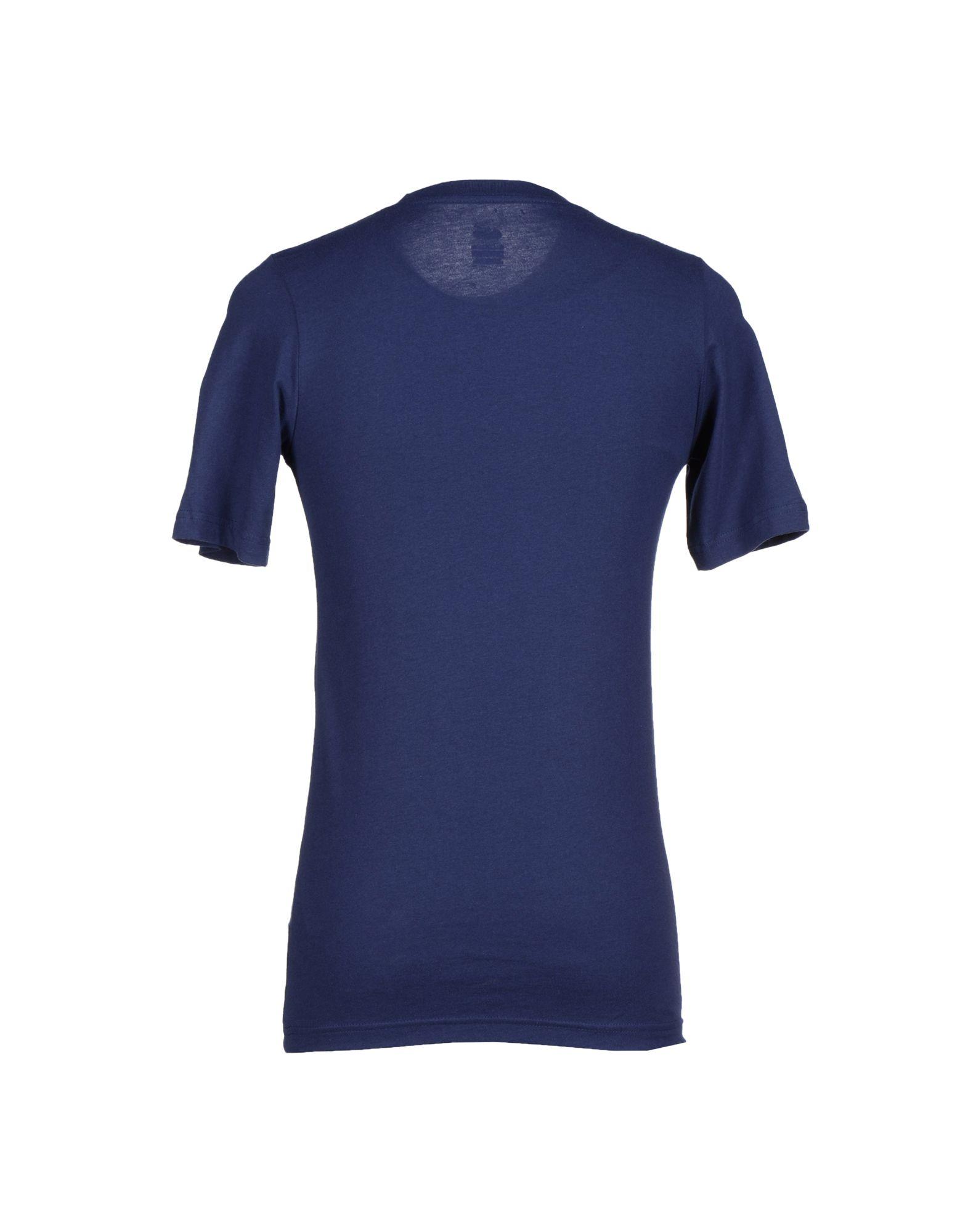 Lyst nike t shirt in blue for men for T shirt dark blue