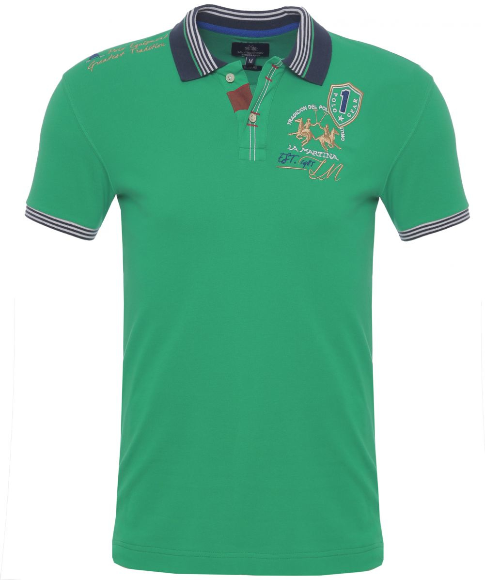 la martina slim fit livio polo shirt in green for men lyst. Black Bedroom Furniture Sets. Home Design Ideas